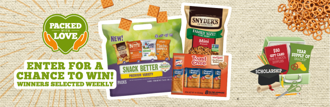 Snyder's Lance Back to School Mega Event Sweepstakes