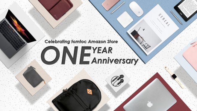 Tomtoc Amazon Store One Year Anniversary Giveaway
