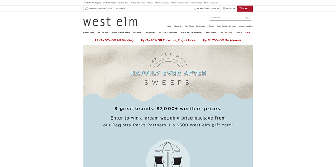 west elm Ultimate Happily Ever After Sweepstakes