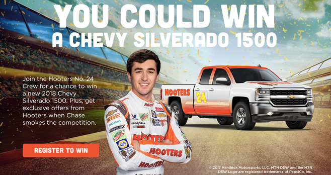 Hooters 24 Racing Truck Sweepstakes