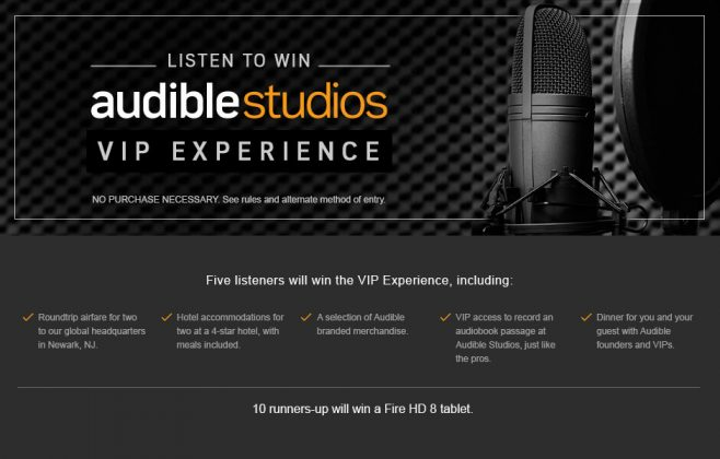 Audible's Listen-to-Win Sweepstakes