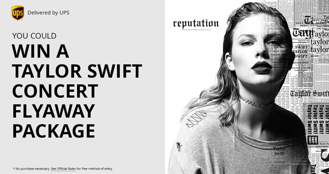 UPS Taylor Swift Concert Flyaway Sweepstakes