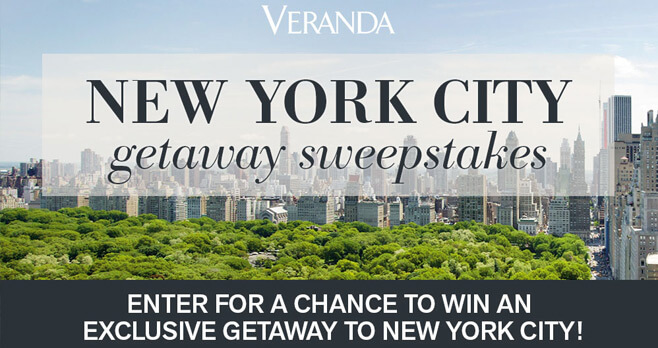 Veranda New York City Getaway Sweepstakes