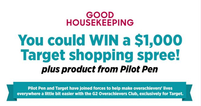 Good Housekeeping Target and Pilot G2 Overachievers Club Sweepstakes