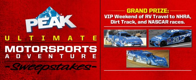 Peak Ultimate Motorsports Weekend Sweepstakes