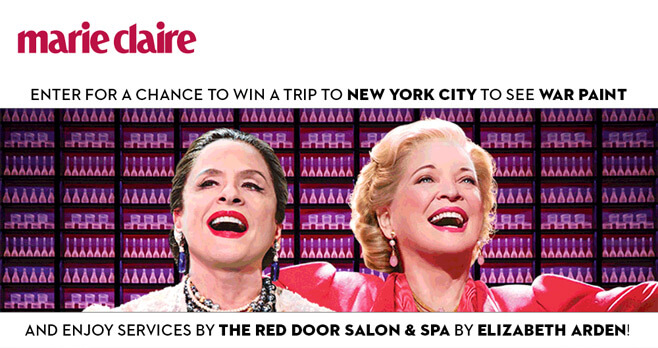 Marie Claire The Red Door by Elizabeth Arden War Paint Sweepstakes