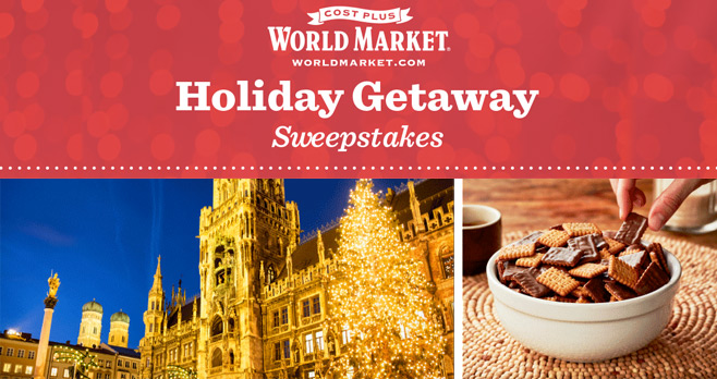 Cost Plus World Markets Holiday Getaway Sweepstakes