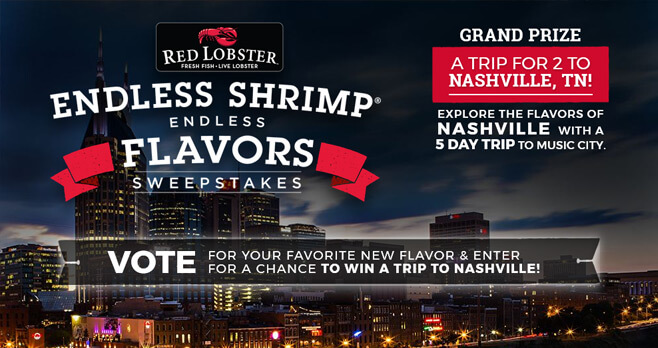 Food Network Red Lobster Endless Shrimp Flavors Sweepstakes