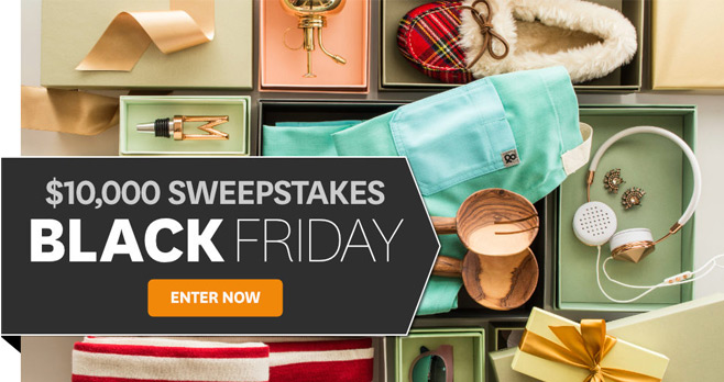 BHG $10,000 Black Friday Sweepstakes 2017