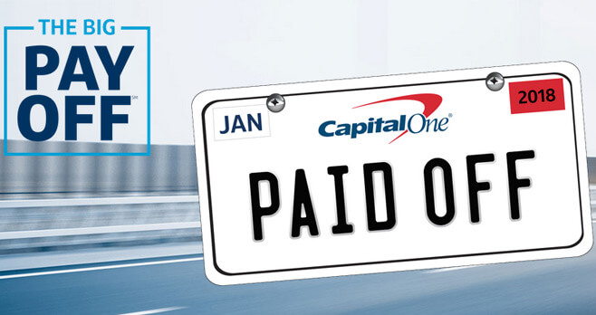 Capital One Big Payoff Sweepstakes 2017