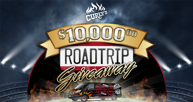 Curly's $10,000 Road Trip Giveaway 2017