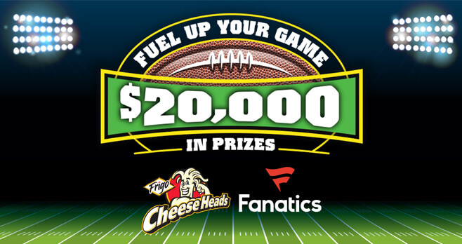 Fuel Up Your Game With Frigo Cheese Heads Sweepstakes