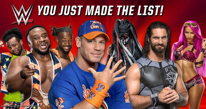 GameStop WWE You Just Made the List Sweepstakes