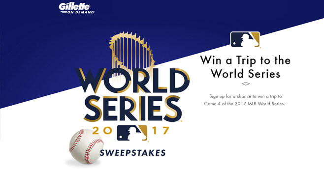 Gillette On-Demand World Series 2017 Sweepstakes