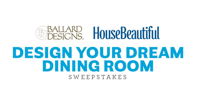 House Beautiful Ballard Designs Sweepstakes
