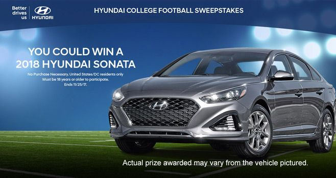 Hyundai College Football Sweepstakes 2017