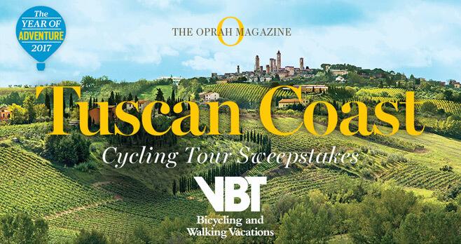 Oprah Magazine Tuscan Coast Cycling Tour Sweepstakes