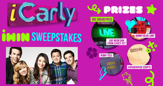 TeenNick iCarly iWin Sweepstakes