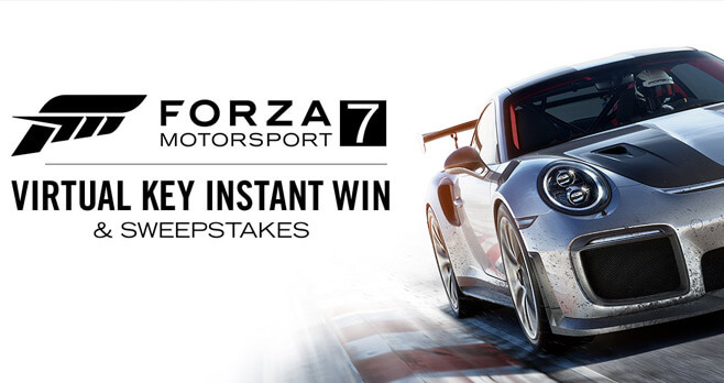Xbox Live Forza Motorsport 7 Virtual Key Instant Win & Sweepstakes