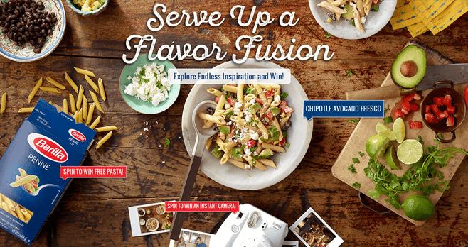 Barilla Flavor Fusion Instant Win Game 2017