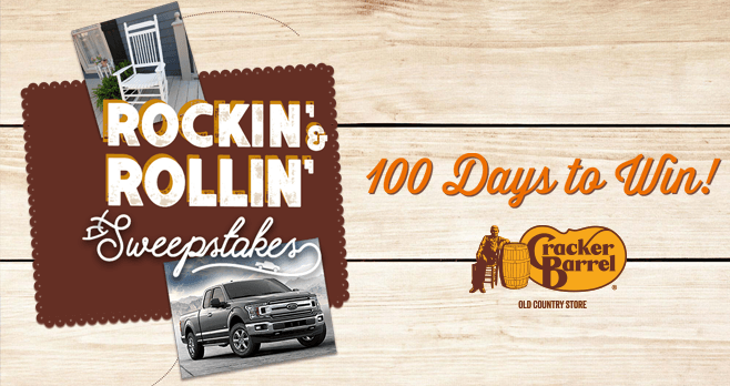 Cracker Barrel Rockin' & Rollin' Sweepstakes 2017