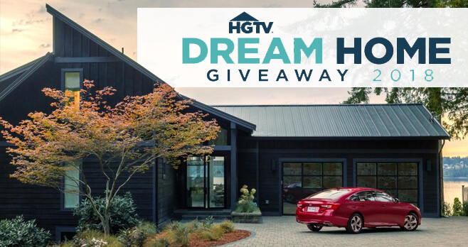 when is the hgtv dream home giveaway