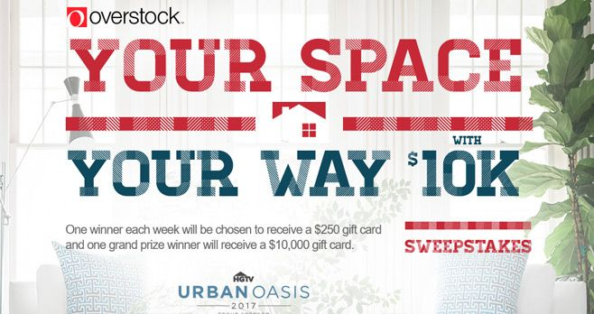 HGTV Your Space Your Way $10K Sweepstakes