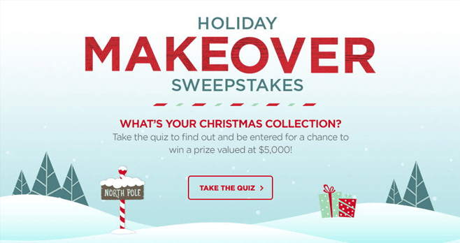 Michaels Holiday MAKEover Sweepstakes 2017