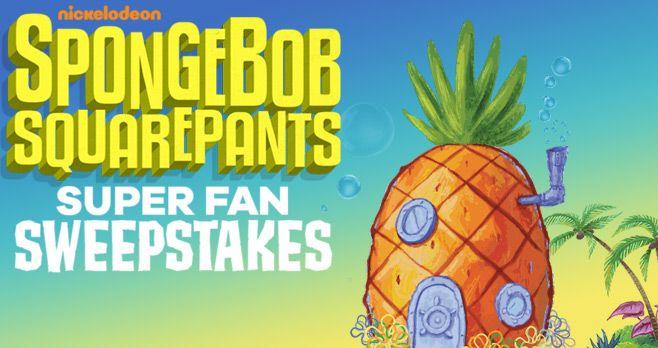 Inspirational SpongeBob SquarePants Super Fan Sweepstakes