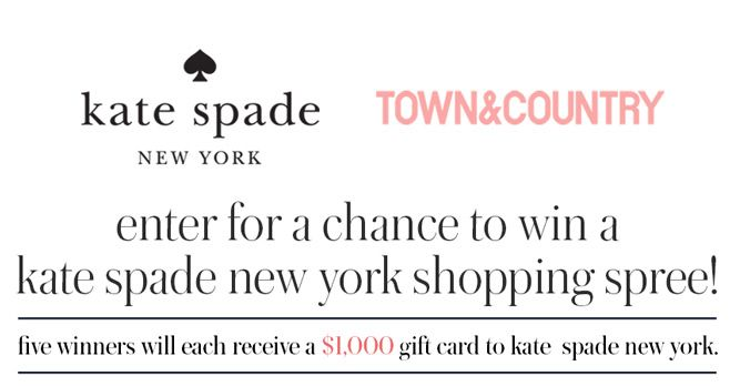 Town & Country Magazine kate spade Sweepstakes