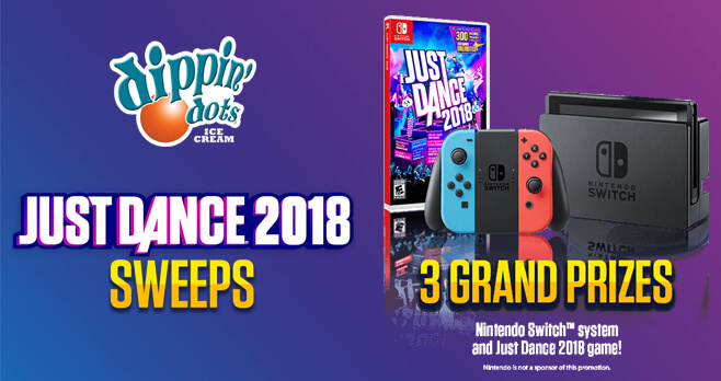 Dippin' Dots Just Dance 2018 Sweepstakes