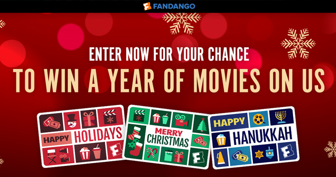 Fandango A Year of Free Movies Sweepstakes