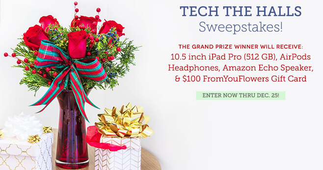 From You Flowers Tech The Halls Sweepstakes