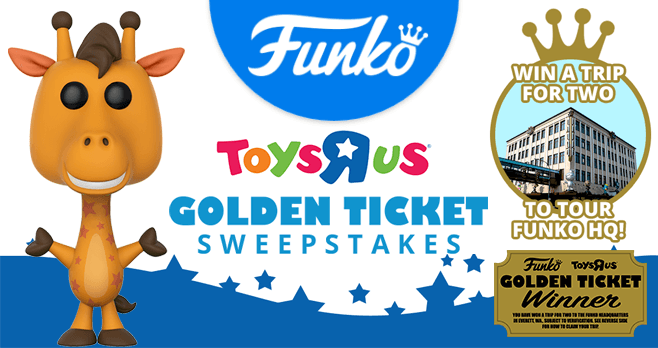 Funko Golden Ticket Sweepstakes 2017