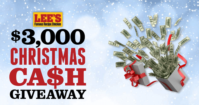 Lee's $3,000 Christmas Cash Giveaway 2017