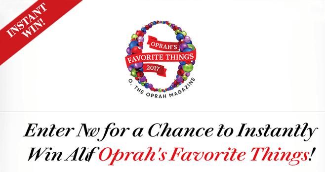 Oprah's Favorite Things Instant Win 2017