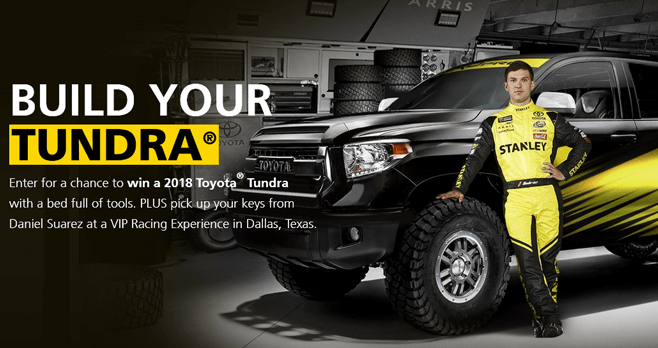 STANLEY Build Your Tundra Sweepstakes 2017