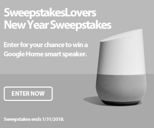 SweepstakesLovers New Year Sweepstakes