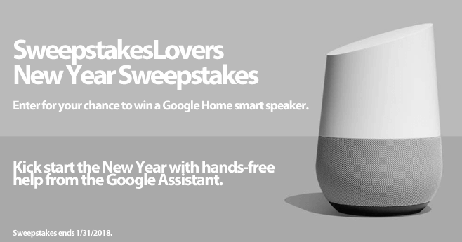 Sweepstakeslovers new year sweepstakes for New home giveaway