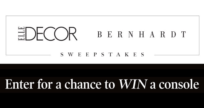 ELLE DECOR Bernhardt Sweepstakes