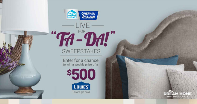 HGTV Live For Ta-Da! Sweepstakes