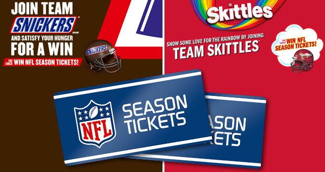 SNICKERS & SKITTLES Super Bowl LII Rivalry 2018 Sweepstakes
