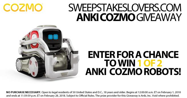 SweepstakesLovers.com Anki Cozmo Giveaway