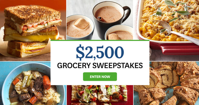 BHG $2,500 Grocery Sweepstakes 2018 (BHG.com/2500Grocery)