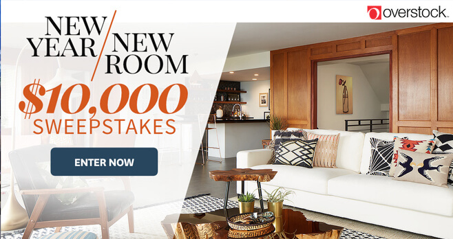 BHG And Overstock New Year, New Room Sweepstakes 2018