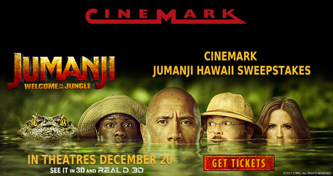 Cinemark Jumanji Sweepstakes 2018