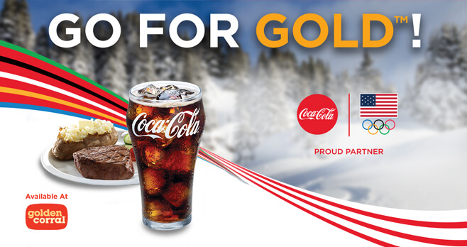 Go for the Gold With Coca-Cola at Golden Corral Sweepstakes 2018