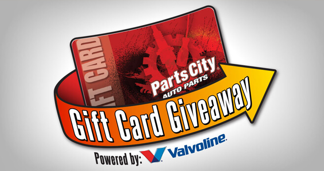 Parts City Gift Card Giveaway 2018 (PartsCitySweeps.com)