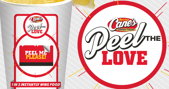 Raising Cane's Peel The Love Game 2018 (RaisingCanes.com/Peel)