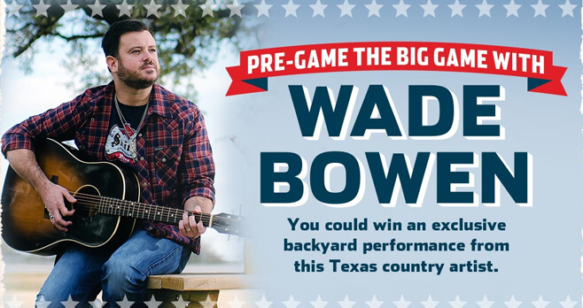 Shiner Wade Bowen Big Game Sweepstakes 2018